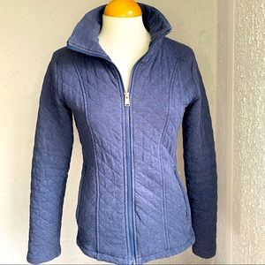 The North Face Navy Quilted Jacket Full Zip